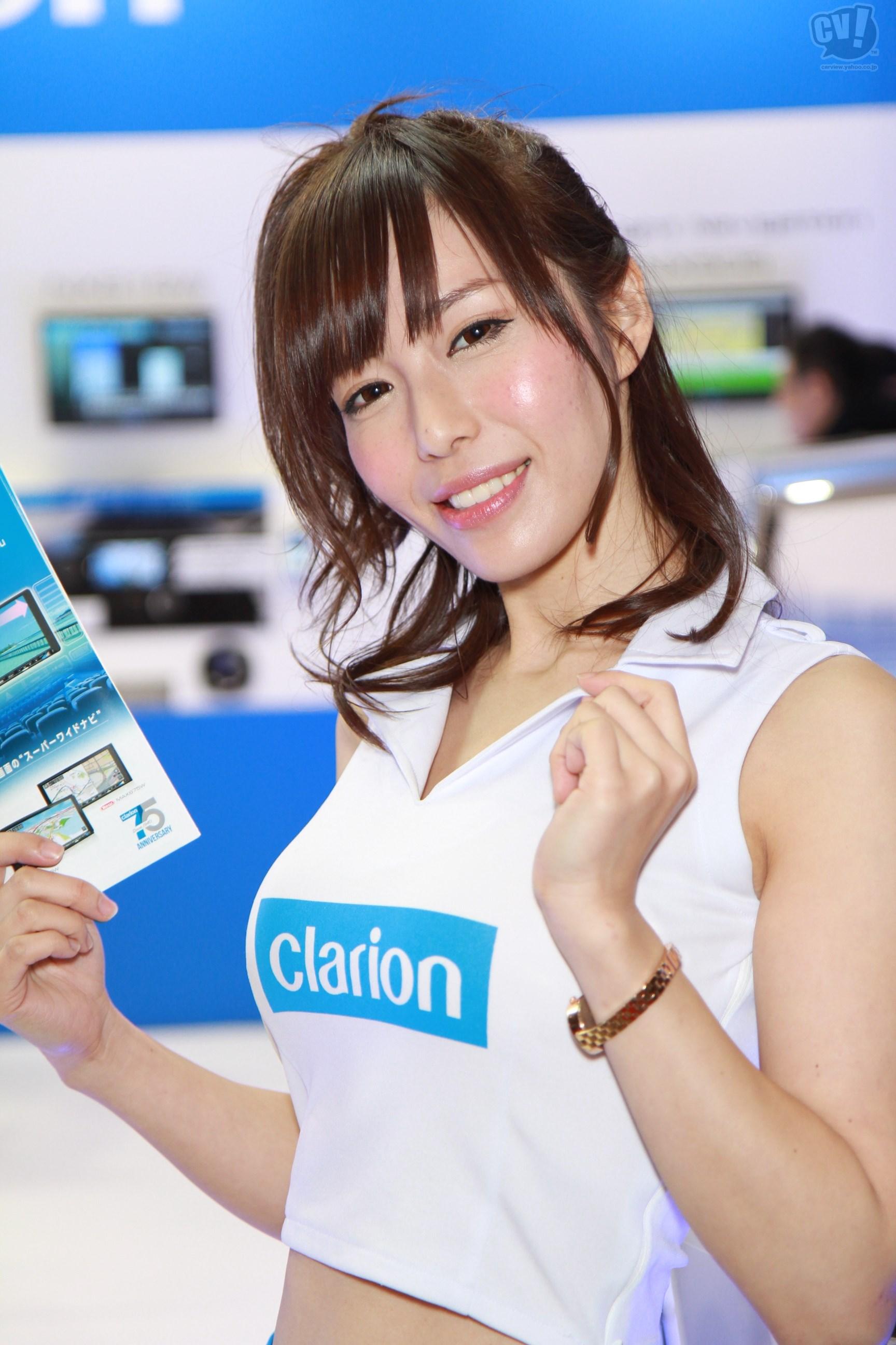 クラリオン株式会社 Vol 2 (朝比奈夢乃さん) 東京オートサロン2016 Carview 自動車