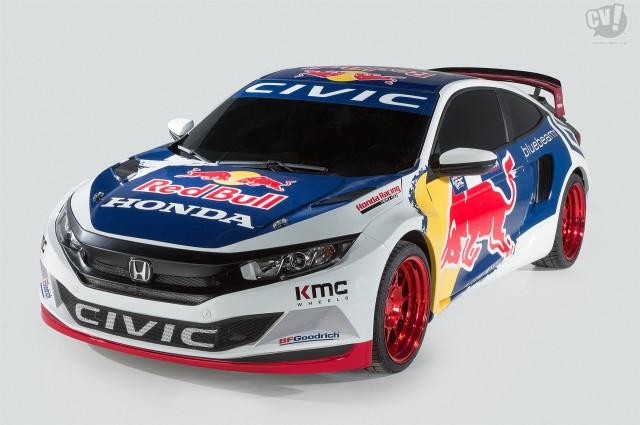 ホンダ シビック クーペ レッドブル グローバル ラリークロス レースカー
