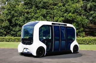 トヨタ、東京2020オリンピック・パラリンピック仕様の自動運転EVバス「e-Palette(イーパレット)」を公開