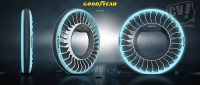 グッドイヤーは未来感たっぷりのコンセプトタイヤ3種を出展