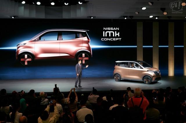 日産、軽のEVコンセプト「IMk」を初披露。リーフなどで培ってきた電動化技術を活かし軽もEV化へ